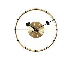 Nástenné hodiny Lavvu Compass zlatá, pr. 31 cm