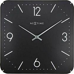 NextimeSquare Dome 3175 nástenné hodiny čierna