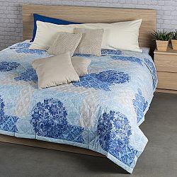 Night in Colours Prehoz na posteľ Ottorino modrá, 160 x 220 cm