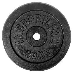 Oceľové závažie inSPORTline Blacksteel 20 kg