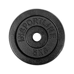 Oceľové závažie inSPORTline Blacksteel 5 kg