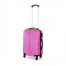 Pretty UP Cestovný škrupinový kufor ABS07 S, fialová