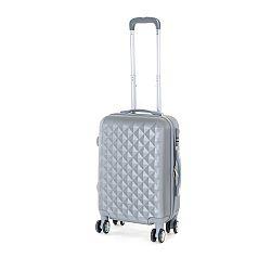 Pretty UP Cestovný škrupinový kufor ABS21 S, sivá