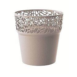 Prosperplast Obal na kvetináč Naturo kávová, pr. 14,5 cm