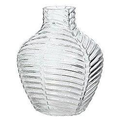Sklenená váza Crystal číra, 20 cm