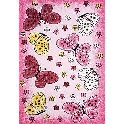 Spoltex Detský koberec Toys pink C 259, 133 x 195 cm