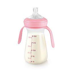 TESCOMA fľaša PAPU PAPI 250 ml, ružová , 250 ml