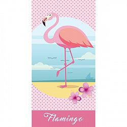 TipTrade Detská osuška Flamingo, 70 x 140 cm