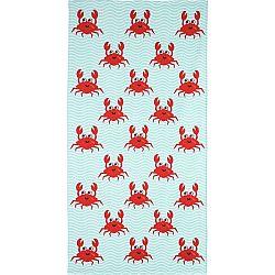 TipTrade Plážová osuška Crazy Crabs, 70 x 140 cm