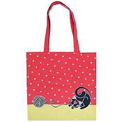 Trade Concept Nákupná taška Mačka červená, 40 x 42 cm