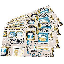 Trade Concept Prestieranie Coffee, 33 x 45 cm, sada 4 ks