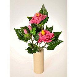 Umelá kvetina Ibištek zväzok ružová, 35 cm
