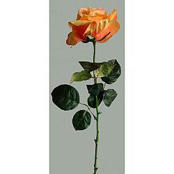 Umelá kvetina Ruža oranžová, 60 cm