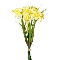 Umelá kytica Narcis žltá, 30 cm