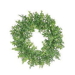 Umelý veniec Buxus zelená, pr. 16 cm