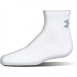 Under Armour Ponožky Charged Cotton 2.0 Quarter White