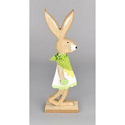 Veľkonočný drevený zajačik Matěj zelená, 24 cm