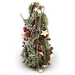 Vianočný ratanový kužeľ Adorno, 30 cm