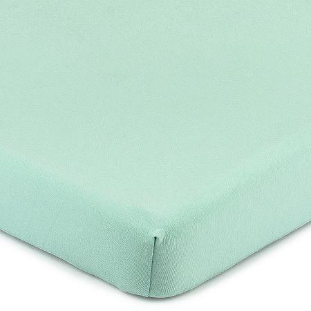 4Home Jersey prestieradlo s elastanom zelená, 160 x 200 cm