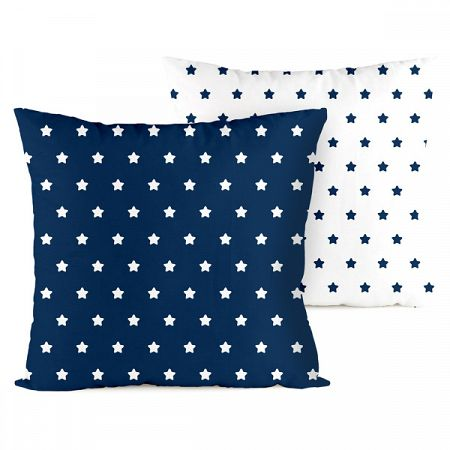 4home Obliečka na vankúšik Stars navy blue, 2x 40 x 40 cm, 40 x 40 cm