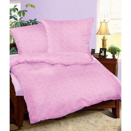 Bellatex Krepové obliečky fialová, 140 x 220 cm, 70 x 90 cm