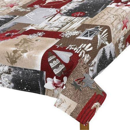 Bellatex Obrus Zasnežené Vianoce, 100 x 100 cm