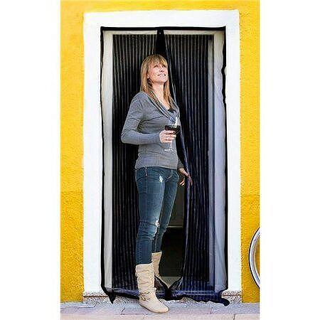 BRILANZ Sieť na dvere proti hmyzu, 100 x 210 cm, čierna