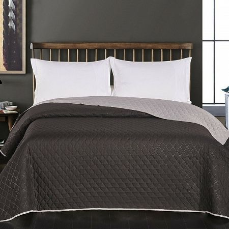 DecoKing Prehoz na posteľ Axel čierna/sivá, 220 x 240 cm