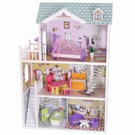 ECOTOYS Domeček pro panenky Beverly Hills s vybavením
