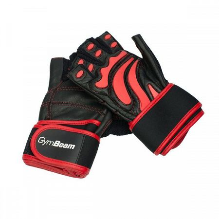 GymBeam Fitness Rukavice Arnold black - red L