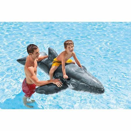 Intex Nafukovacia veľryba sivá, 201 cm