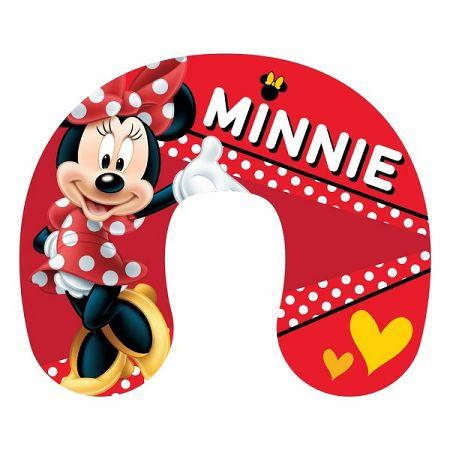 Jerry Fabrics Cestovný vankúšik Minnie red, 40 x 40 cm