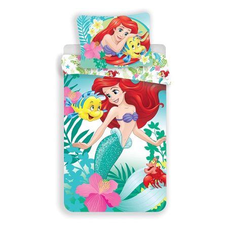 Jerry Fabrics Detské bavlnené obliečky Malá morská víla Ariela, 140 x 200 cm, 70 x 90 cm
