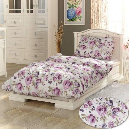 Kvalitex Bavlnené obliečky Daniela fialová PROVENCE, 140 x 200 cm, 70 x 90 cm