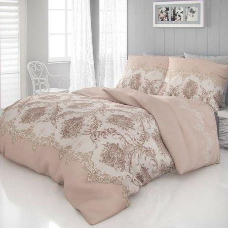 Kvalitex Saténové obliečky Luxury Collection Adra béžová, 200 x 200 cm, 2 ks 70 x 90 cm