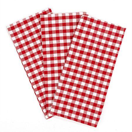 Trade Concept Kuchynská utierka Kocka červená, 50 x 70 cm, sada 3 ks