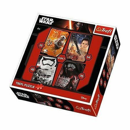TREFL Puzzle Star Wars Povstalci 4v1 (35,48,54,70 dílků)