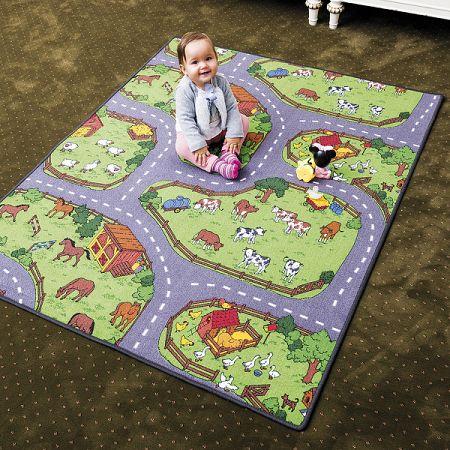 Vopi Detský koberec Farma, 200 x 200 cm